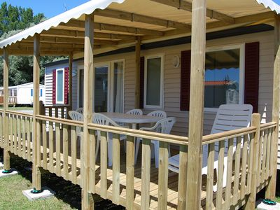 Photo for Mobile home 32 m2 3 bedrooms camping 4 * The Palmyra