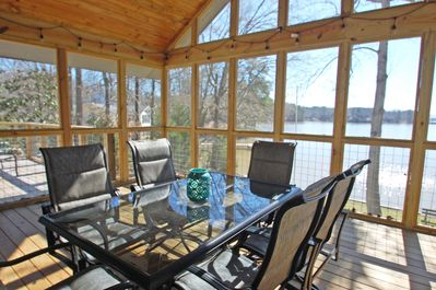 Newly renovated screened in porch.
