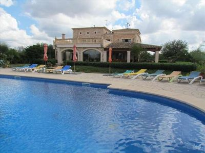 Photo for NA PONT- Rustic Finca with 20x10m pool in Campos, Mallorca. Ideal for families. Sat TV. A/C - Free Wifi