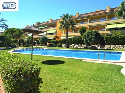 Photo for Apartment in Javea, 2nd p 3 terraces pool Montañar I beach at 100m