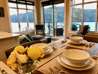 Photo for Luxury Waterfront Vacation Cottage 100 Feet above the sea