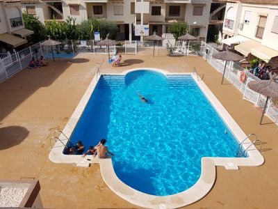 Photo for Beautiful 1 Bed Apartment (Sleeps 4 + Infant) AirCon, Communal Pool, UK TV