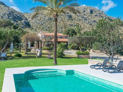 Photo for Villa with mountain view and pool - Es Puchet