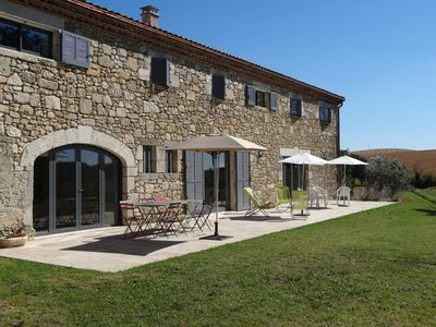 Photo for Gers, Miradoux: Old cellar for 8 people with private pool and tennis