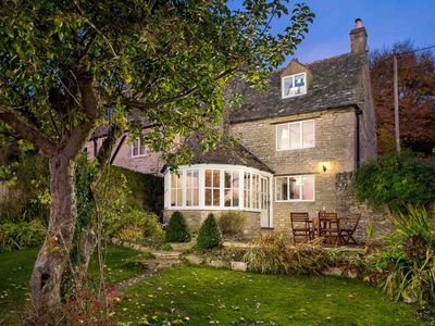 Photo for Grange Cottage is a beautiful Cotswold stone cottage, at the top of a hill with far reaching views.