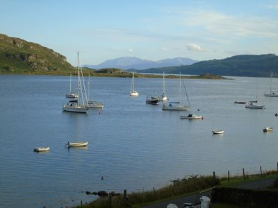Photo for Waterside house with mooring Glorious views on Kyles of Bute sleeps 10-12
