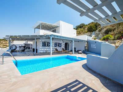 Photo for This 2-bedroom villa for up to 4 guests is located in Paros Island and has a private swimming pool,