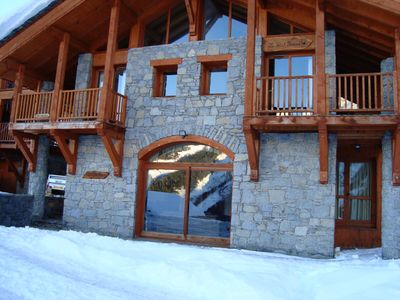 Photo for CHALET HELENE WITH PRIVATE JACUZZI AND SKING VIRTUALLY ON DOORSTEP SLEEPS8