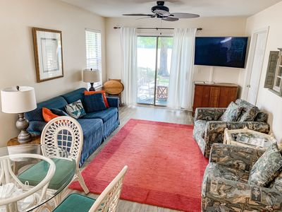 Photo for Book your Fall golf retreat!  Golf course view, pool/hot tub, close to beach