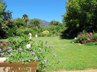 Photo for Central position with beautiful garden, mountain views and is on the wine route
