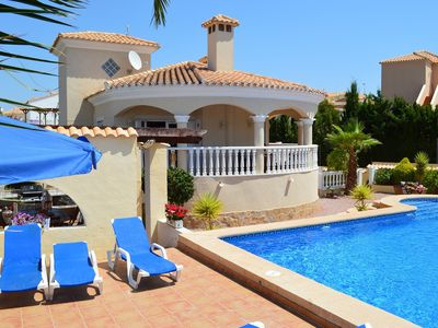 Photo for Beautiful villa with private pool and secluded gardens