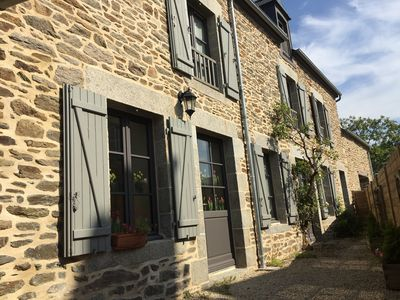 Photo for Near Mont Saint Michel Grand renovated cottage for 14 people aboard Rance