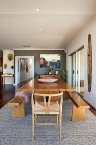Designer dining table with seating for 8 guests