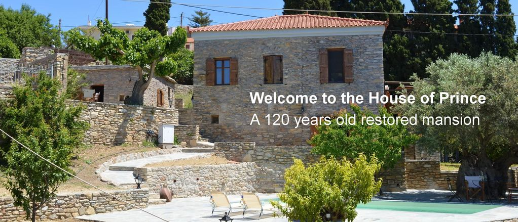 Traditional Country House with Pool- Make yourself at home- The House of  Prince - Nea Stira