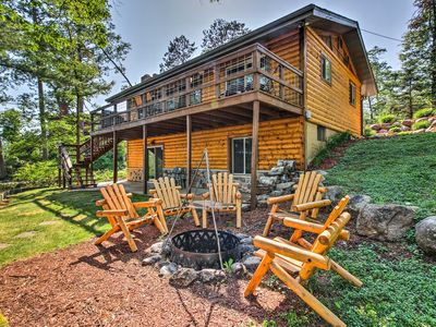 Photo for Waterfront Gull Lake Home w/ Hilltop Views & Dock!