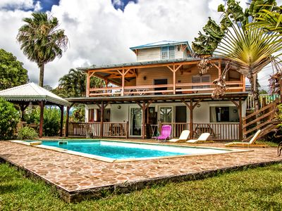 Photo for T2 Creole in Kasa vanilla, swimming pool and quiet, ground villa