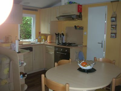 Photo for Mobil home any comfort in camping 4 stars