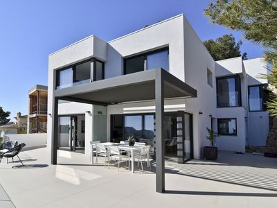 Photo for ENTRES DOSAIGÜES- modern house with swimming pool and sea views-Tamariu-Costa Brava