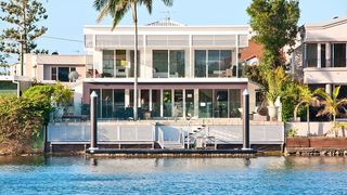 Waterfront Mansion Surfers