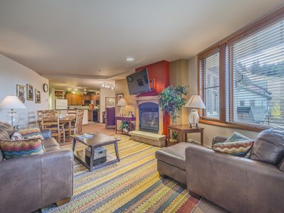 Photo for Ski in Ski out Riverside building at Zephyr Mountain Lodge! 3BD/3BA! VIEWS