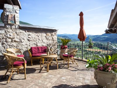 Photo for LE ROCCHE - Under the Castle, ZAFFIRO Apartment with SPA and Black River view