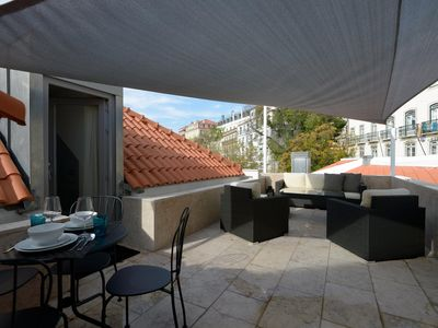 Photo for Spacious Luxus Santa Catarina apartment in Santos with WiFi, air conditioning & roof terrace.
