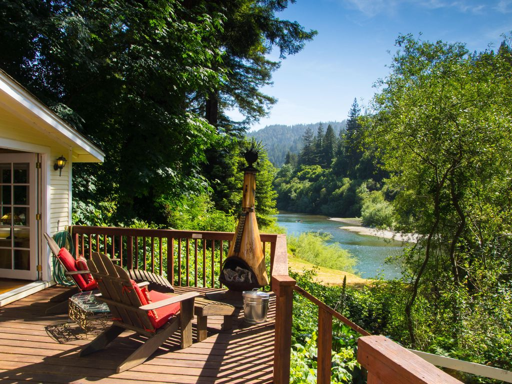 Riverfront Cottage In Sonoma Wine Country