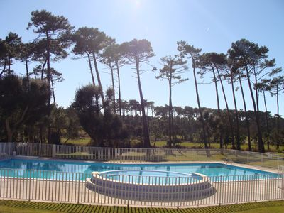 Photo for Golf Border pretty residence with pool Moliets beach apartment for 4 to 6 people
