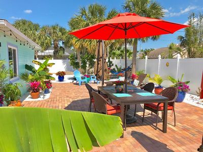Enjoy your own private fenced-in back yard, close to the beach.