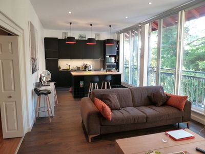 Photo for Apartment Moulleau comfortable / bright / quiet close to the beach 300m