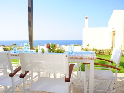 Photo for Seafront villa Avra , pool , 50m from the sea, excellent sea and sunset views!!