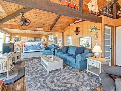 Photo for Classic Wood-Lined Oceanfront Cottage with Easy Beach Access in Waldport!