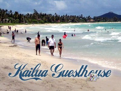 Photo for Kailua Guesthouse Palm Cabana - Walk to Kailua Beach