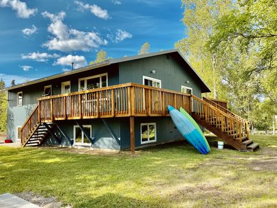 Welcome to Fort Alaska. This is the creek-side view of our home away from home.