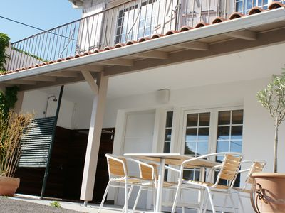 Photo for Anglet, Basque coast, apartment on the ground floor of a villa