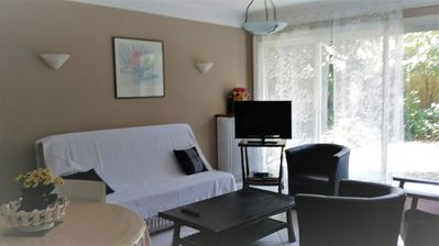 Photo for Furnished Elga T2 on the ground floor between city and thermal baths