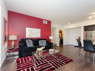 Photo for URBAN HOLLYWOOD BLVD BURGUNDY SUITE
