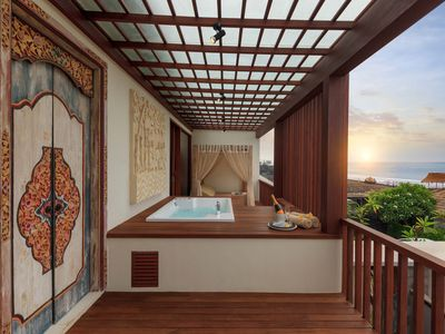 Photo for Jacuzzi Sea View Villa at Purnama beach