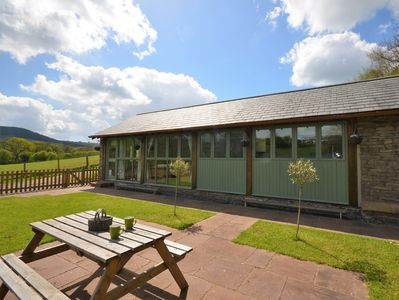 Lovingly converted barn with enclosed garden area