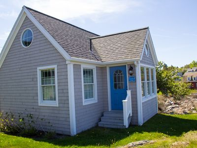 Nautical Themed Oceanfront Cottage Located at the Mouth of Picturesque Mackerel Cove on Bailey Is...