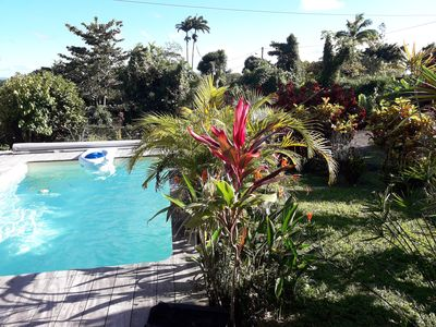 Photo for T4 Furnished - 200 m2Terrace Garden Carbet and Salt Pool