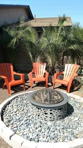 Watch the sunset reflected on the Mc Dowell Mts from your own fire pit.
