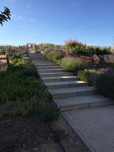 Steps to private access to the beach