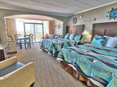 Photo for Underwater Fun Condo With Ocean Views Sleeps 4 at Room 310!