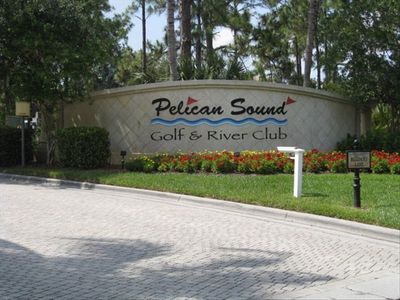 Entrance to Pelican Sound a Gated Community