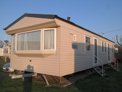 Photo for Splendid 3 bed caravan,Private parking,New Romney/Dymchurch,Family-pet friendly