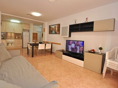 Photo for Apartment Mar-Lloretholiday A027, 50 meters from the beach, 2 bedrooms, 1 bathroom, kitchen with living room, internet