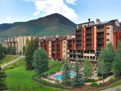 Photo for Ski-in/ski-out w/ majestic views of Vail slopes, pool/hot tub, gym, ski valet