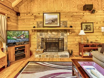 Photo for The beautiful Sundance Lodge log home in peaceful cove. Paddle Board included!