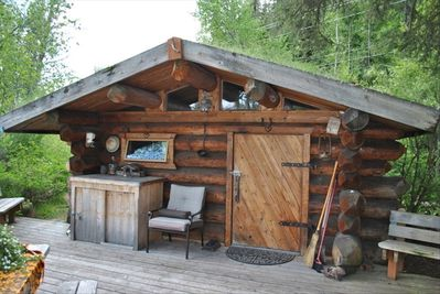 Front of cabin from deck